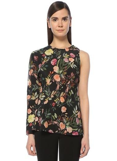 Theory Tek Omzu Açık Çiçekli Bluz Renkli